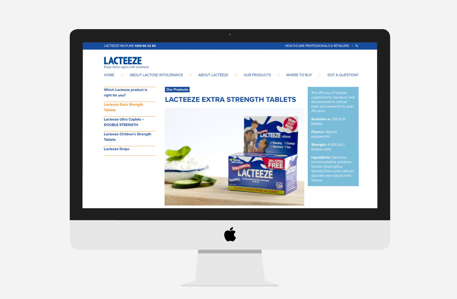 Lacteeze website