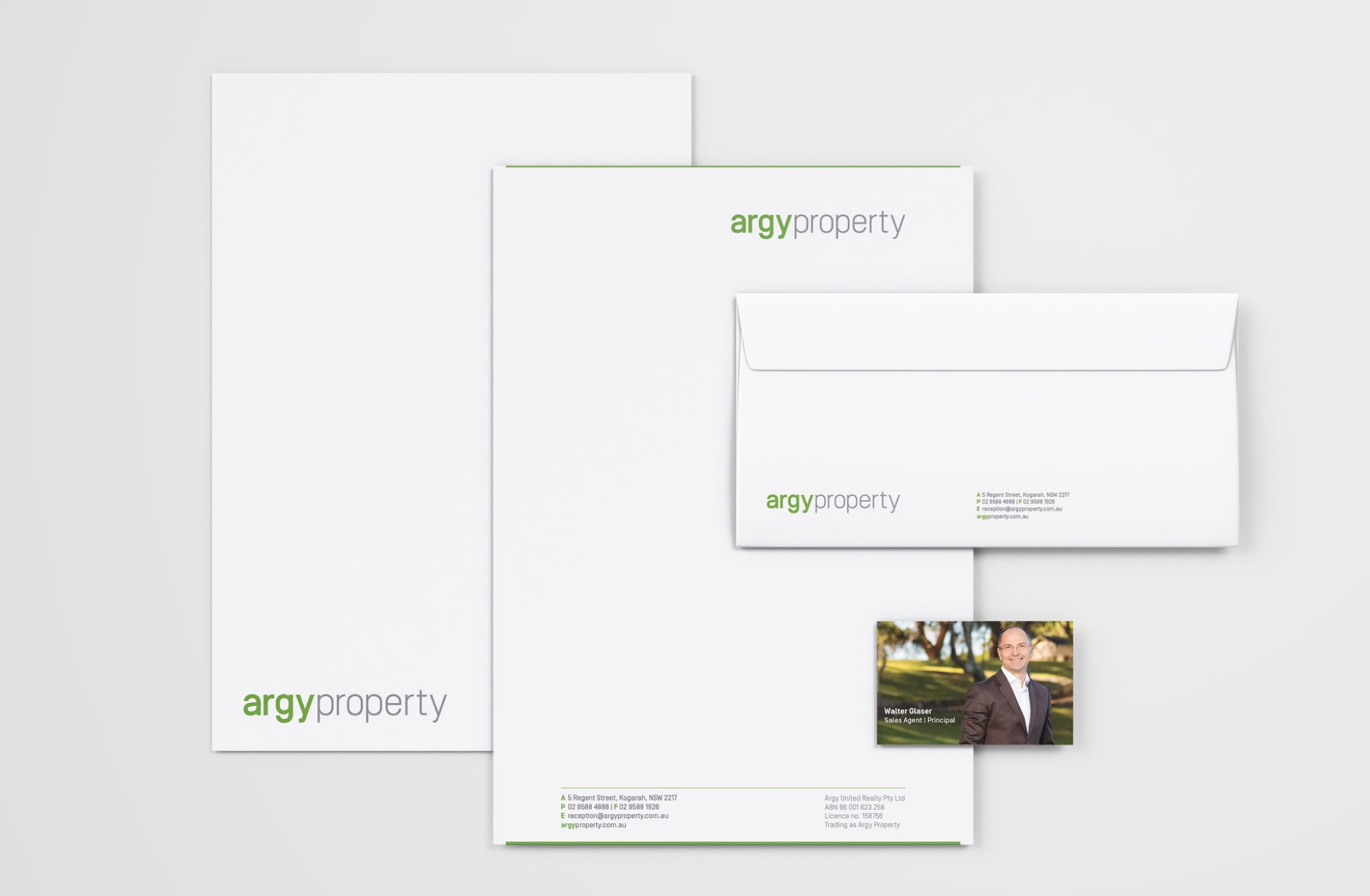 Argy Property stationery suite